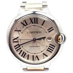 Cartier Yellow Gold Stainless Steel Ballon Bleu Automatic Wristwatch Ref 3001