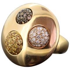 De Grisogono, 18 Karat Yellow Gold Twist Mechanism Ladies Ring