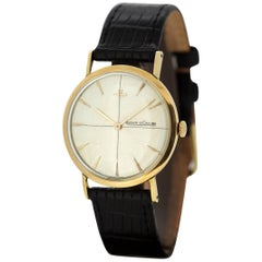 Jaeger-LeCoultre Vintage 18 Karat Gold Manual Winding Wristwatch, circa 1960s