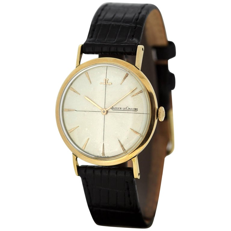 Jaeger-LeCoultre Vintage 18 Karat Gold Manual Winding Wristwatch, circa 1960s For Sale