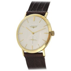 Vintage Longines 14 Karat Yellow Gold Men's Wristwatch, circa 1960s