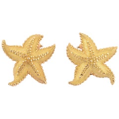 Tiffany & Co. Gold Starfish Earrings