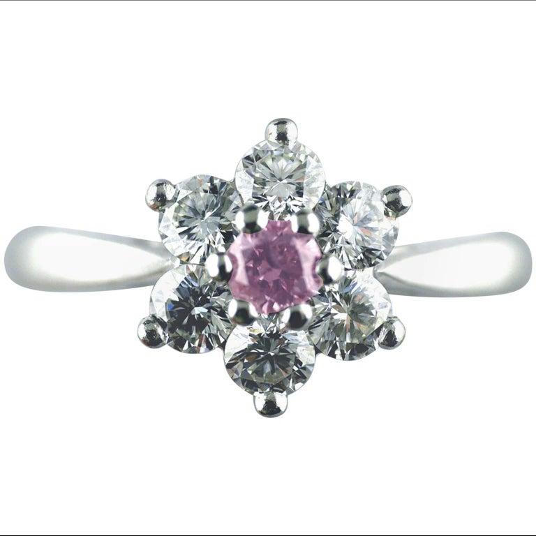Certified Untreated Fancy Purple Diamond Platinum Cluster Ring, 2010