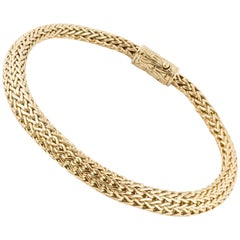 John Hardy 18 Karat Woven Bracelet