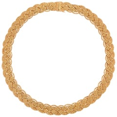 Tiffany & Co. Gold Braided Choker Necklace