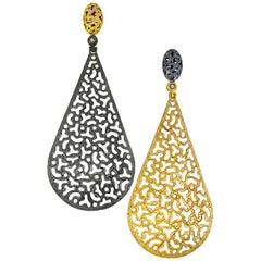 Sterling Silver Gold Platinum Topaz Festive Drop Earrings