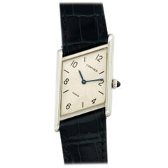 Cartier Platinum Asymmetric Tank Limited Edition Wristwatch, Ref 1996