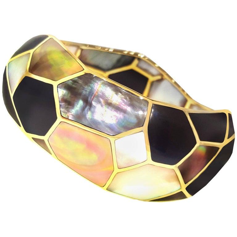 Ippolita Mother-of-Pearl and Black Onyx Mosaic Bangle Bracelet 1