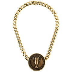 Bulgari Cornell University Football Medallion Necklace