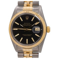 Rolex yellow gold stainless steel Datejust self winding wristwatch, circa 1986
