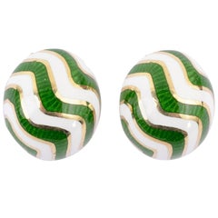 Martine Enamel Gold Earrings