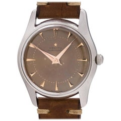 Zenith Stainless Steel Vintage Tropical Dial Automatic wristwatch, circa 1959