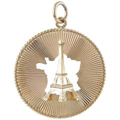 Gold Eiffel Tower France Charm