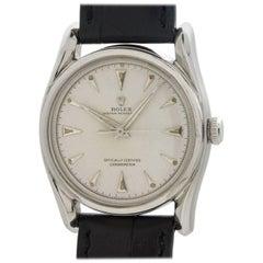 Rolex Stainless Steel Bombe self winding wristwatch Ref 5018, circa 1948