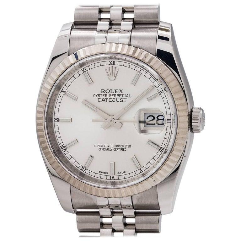 Rolex Stainless Steel Datejust self winding Wristwatch Ref 116234, circa 2010