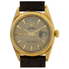 Rolex Yellow Gold Stainless Steel Day Date Tropical Dial Self Winding Wristwatch