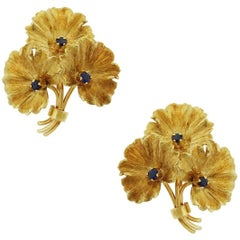 Tiffany & Co. Sapphire Flower Earrings