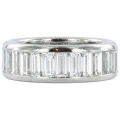 Gübelin Baguette Diamond Platinum Eternity Ring