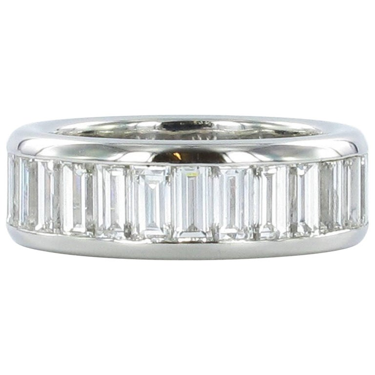 Gübelin Baguette Diamond Platinum Eternity Ring
