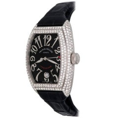 Franck Muller White Gold Diamond Conquistador Automatic Wristwatch