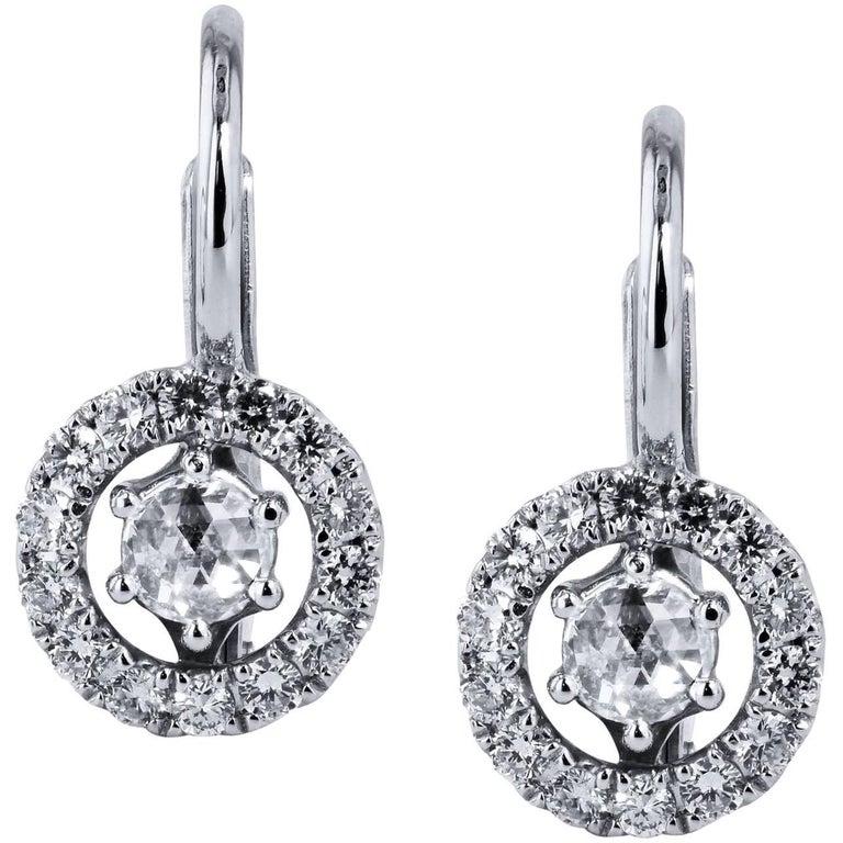 0.40 Carat Diamond Lever-Back Earrings