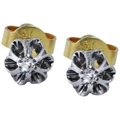 Single Cut Diamond Stud Earrings