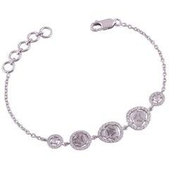 18 Karat Gold und Rose Schliff Diamant-Armband