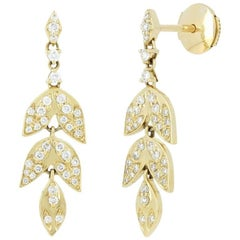 Yvonne Leon's Earring in 18 Karat Yellow Gold with Diamonds