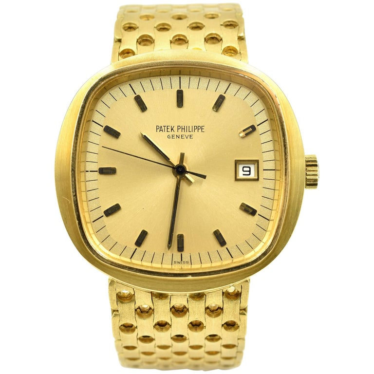 11a1ad9d0ae Patek Philippe Yellow Gold Beta 21 Quartz Wristwatch Ref 3587 2 For Sale at  1stdibs