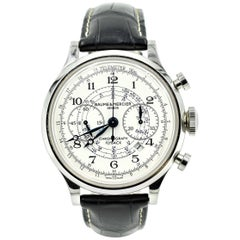 Baume & Mercier Stainless Steel Capeland Flyback automatic wristwatch