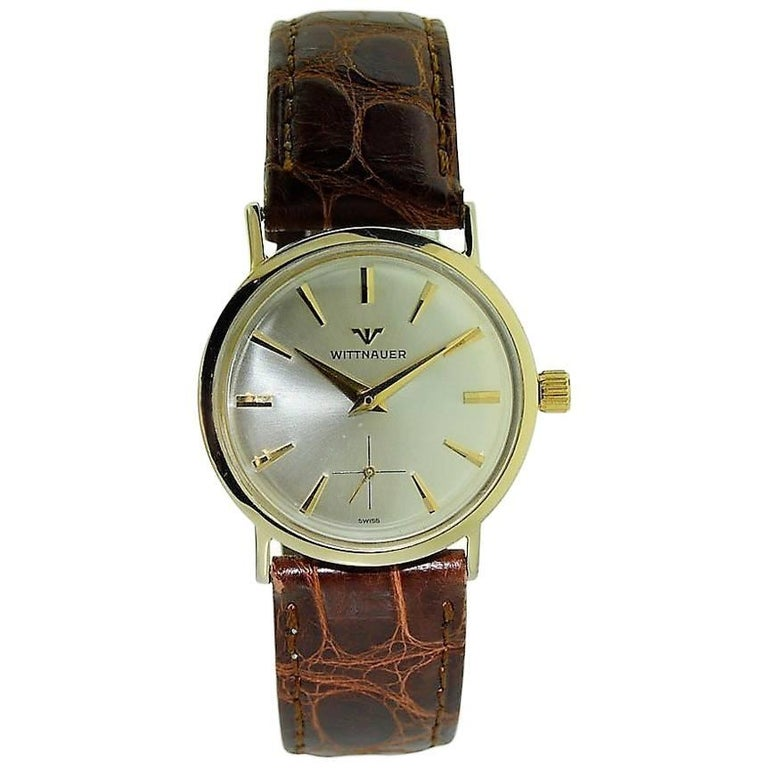 8ee6ea323051 Wittnauer Solid Gold Vintage Manual Wind Watch