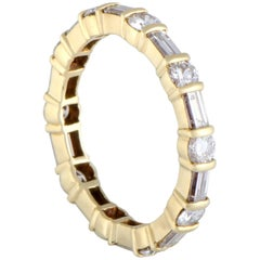 Van Cleef & Arpels Diamond Eternity Gold Band Ring