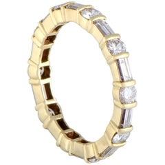 Van Cleef & Arpels Diamond Eternity Gold Band Ring