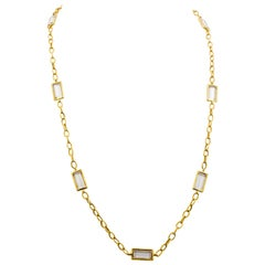 Katie Decker White Topaz 18 Karat Yellow Gold Necklace