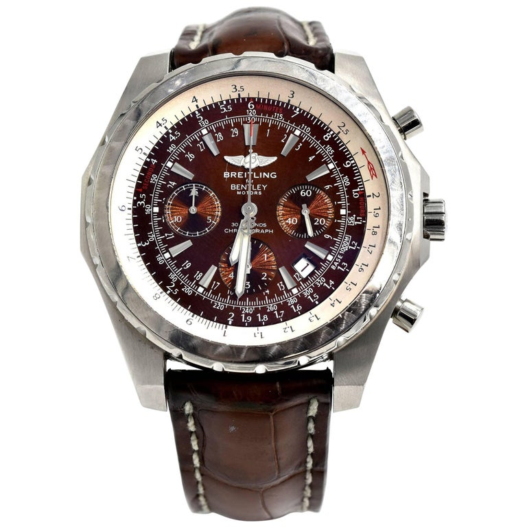 Breitling Stainless Steel Bentley Automatic Wristwatch Ref: Breitling Stainless Steel Bentley Motors Automatic