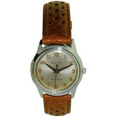Bulova Stainless Steel Art Deco Automatic Winding Wristwatch, 1950s