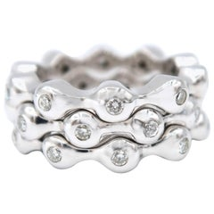 Everyday Three White Gold Diamond Stack Rings