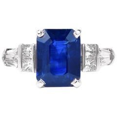 Daussi Ceylon 4.99 Sapphire Diamond Platinum Ring