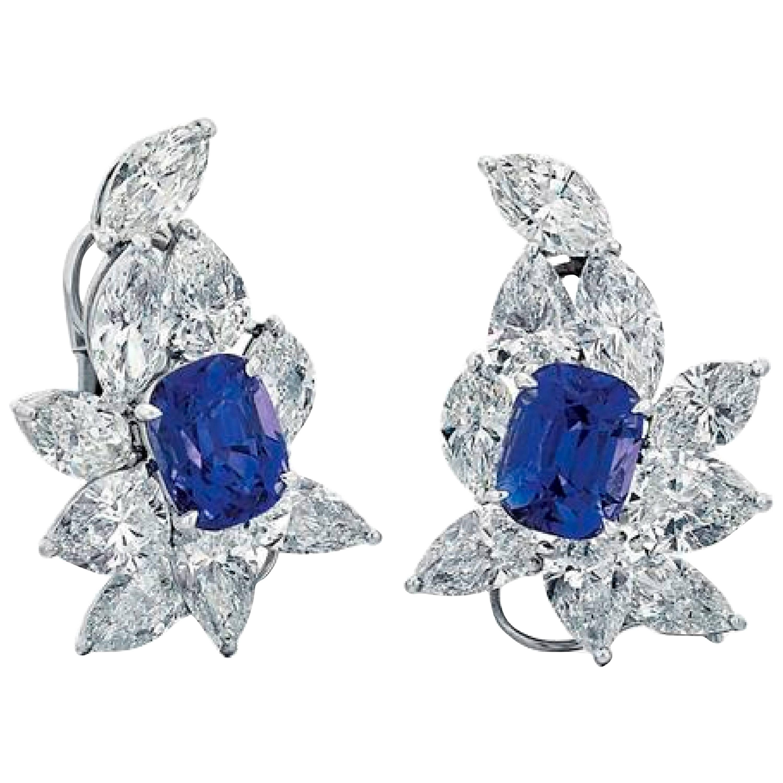 Fine Sapphire and Diamond Ear Clip