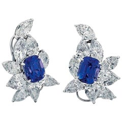 Fine Sapphire and Diamond Ear Clip