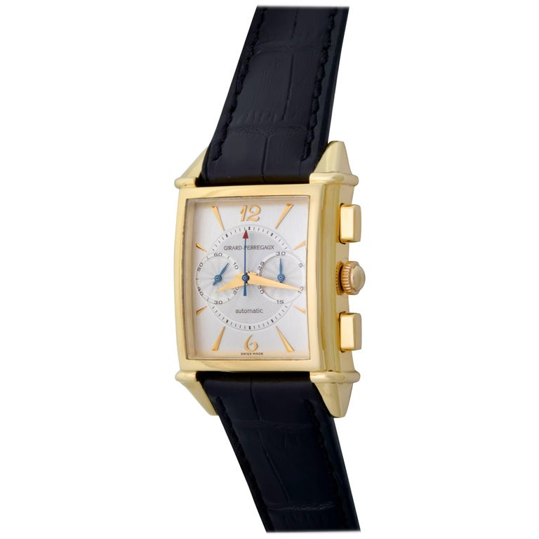 Girard Perregaux Vintage Yellow Gold Wristwatch Ref 2599, circa 1945 For Sale