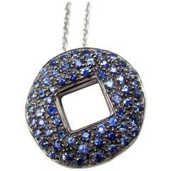 Pomellato Sapphire White Gold Pendant Necklace