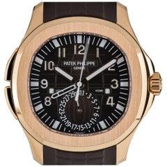Patek Philippe Rose Gold Aquanaut Travel Time Automatic Wristwatch Ref  5164R-00