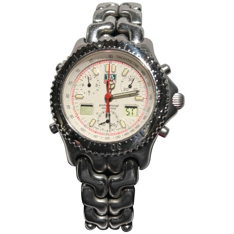 e1b01b0c6ef Tag Heuer Professional Chronograph Wristwatch at 1stdibs