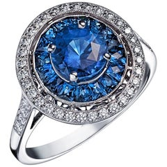 Victorine Ring Sapphires and Diamonds
