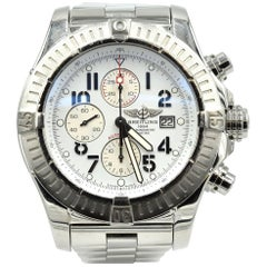 Breitling Stainless Steel Super Avenger Chronograph Wristwatch Ref A13370