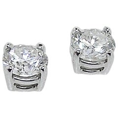 Diamond Stud Earrings, Just under 1 Carat Total