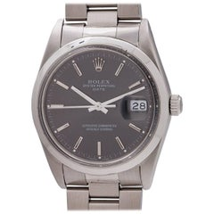 Rolex Stainless Steel Oyster Perpetual Date self winding wristwatch, circa 1987