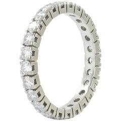 1.63 Carat Diamond White Gold Eternity Ring