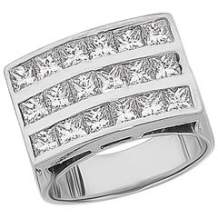 'Princess Grande' Channel Set Princess Cut Diamond Ring